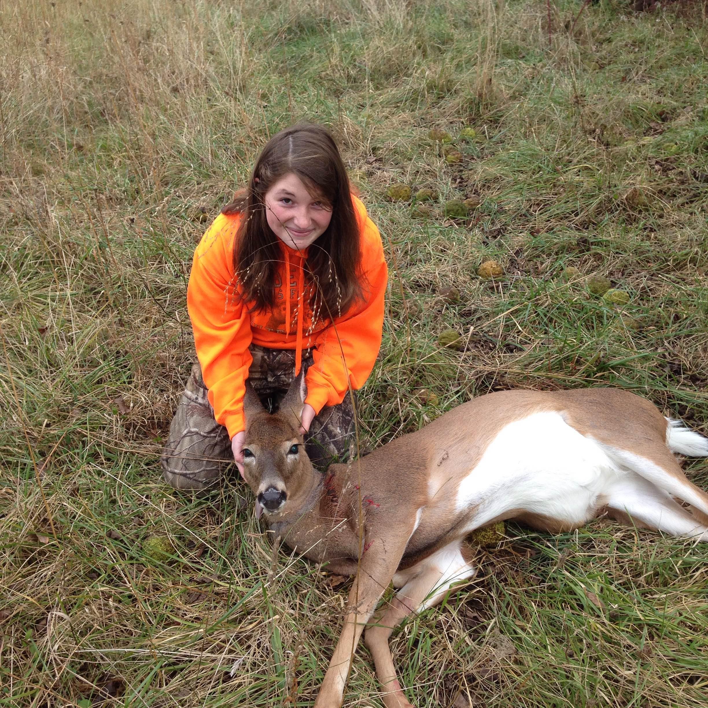 Ginger Seibel's first deer WV 2014